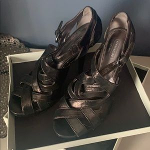 Metallic heels coach